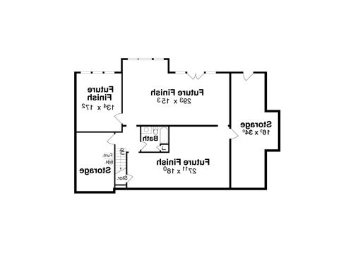 Lower Level image of Featured House Plan: BHG - 1127