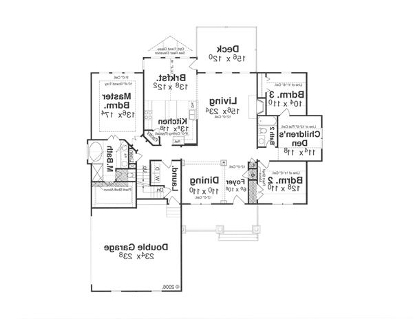 First Floor image of Featured House Plan: BHG - 1127