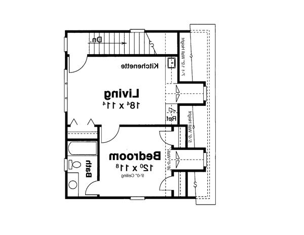Garage Apt. image of Featured House Plan: BHG - 8090