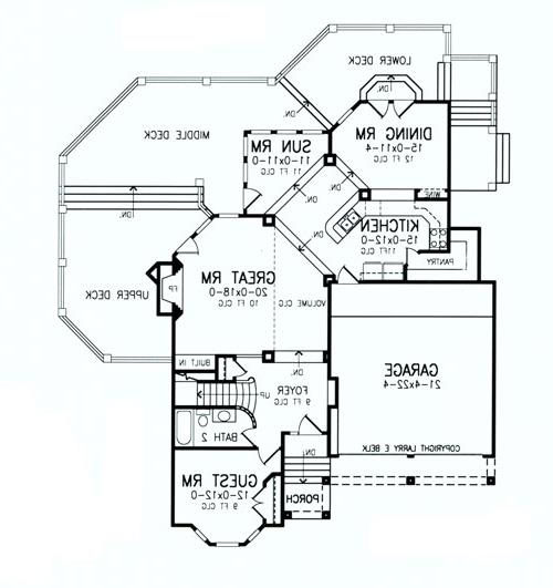 First Floor Plan image of Featured House Plan: BHG - 8458