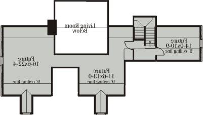Second Floor Plan image of Featured House Plan: BHG - 3615