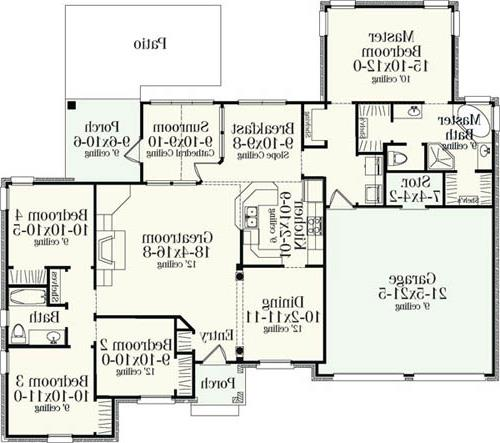 Floor Plan image of Featured House Plan: BHG - 5276
