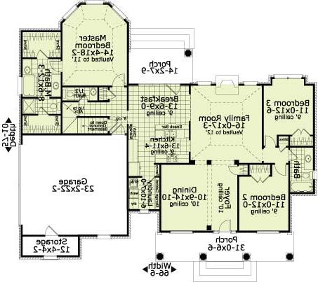 First Floor Plan image of Featured House Plan: BHG - 5614