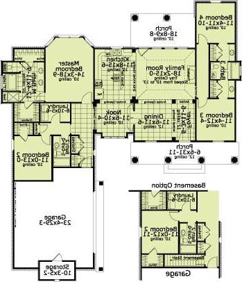 First Floor Plan image of Featured House Plan: BHG - 5615