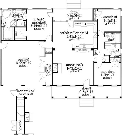 First Floor Plan image of Featured House Plan: BHG - 8787