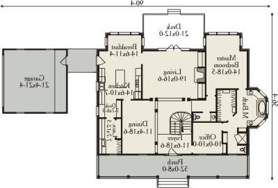 First Floor Plan image of Featured House Plan: BHG - 3484