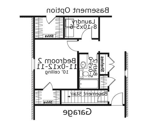 Basement Stair Location image of Featured House Plan: BHG - 5615