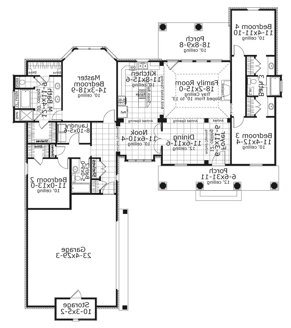 Floor Plan image of Featured House Plan: BHG - 5615