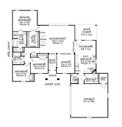 Floor Plan image of Featured House Plan: BHG - 3097