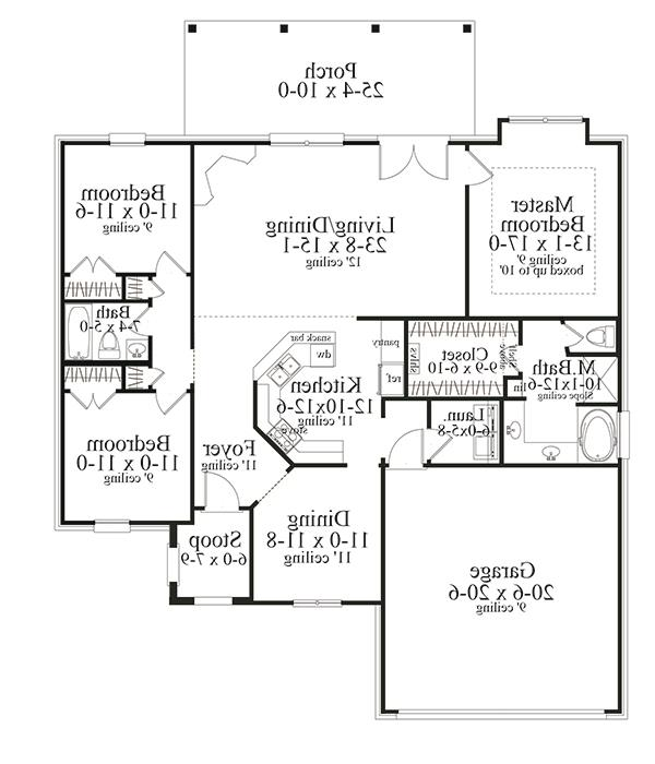 Floor Plan image of Featured House Plan: BHG - 3095