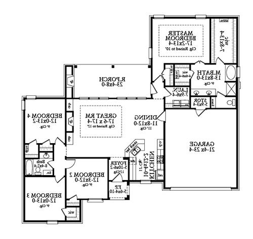 Floor Plan image of Featured House Plan: BHG - 4832