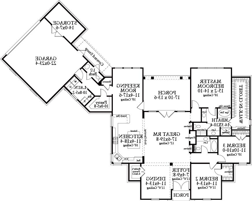 Floor Plan image of Featured House Plan: BHG - 4921