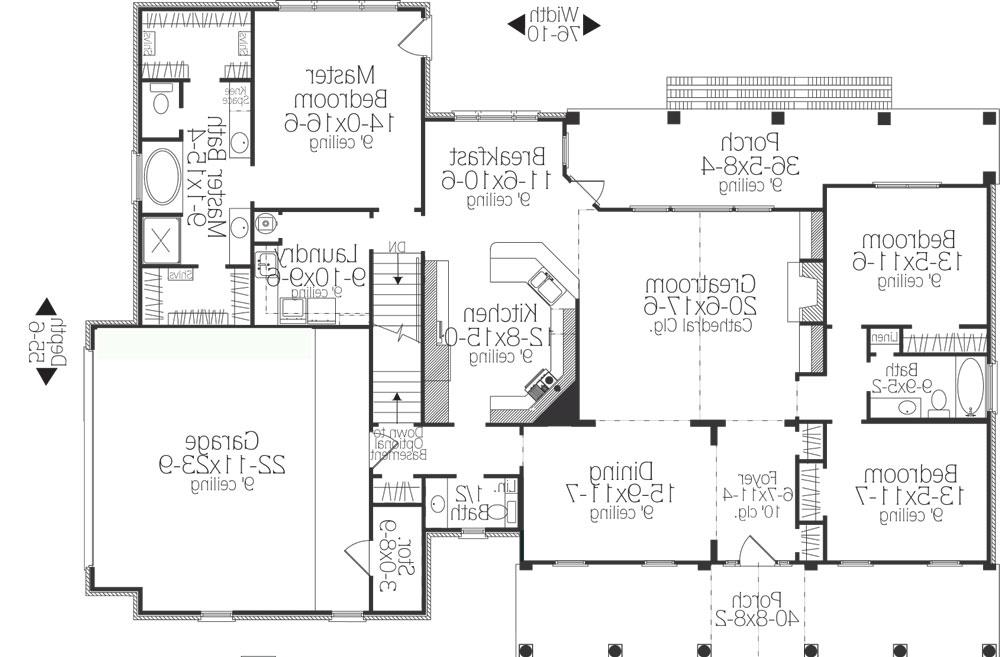 First Floor Plan image of Featured House Plan: BHG - 5558