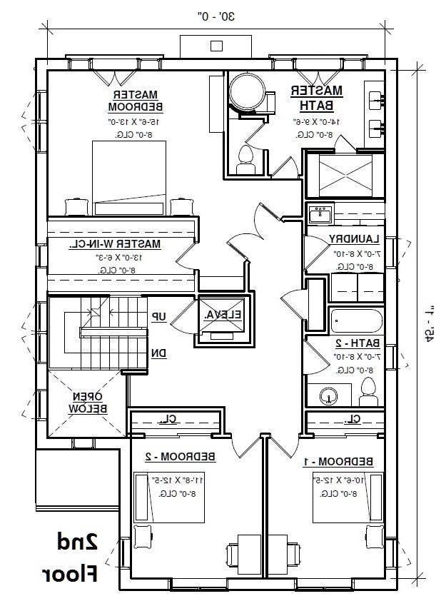 2nd Floor Plan image of Featured House Plan: BHG - 4301