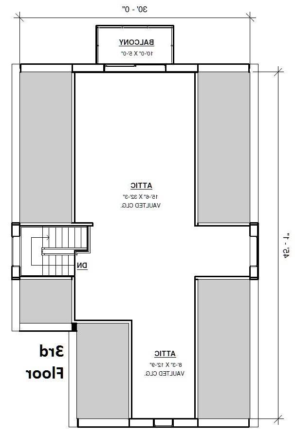 3rd Floor Plan image of Featured House Plan: BHG - 4301