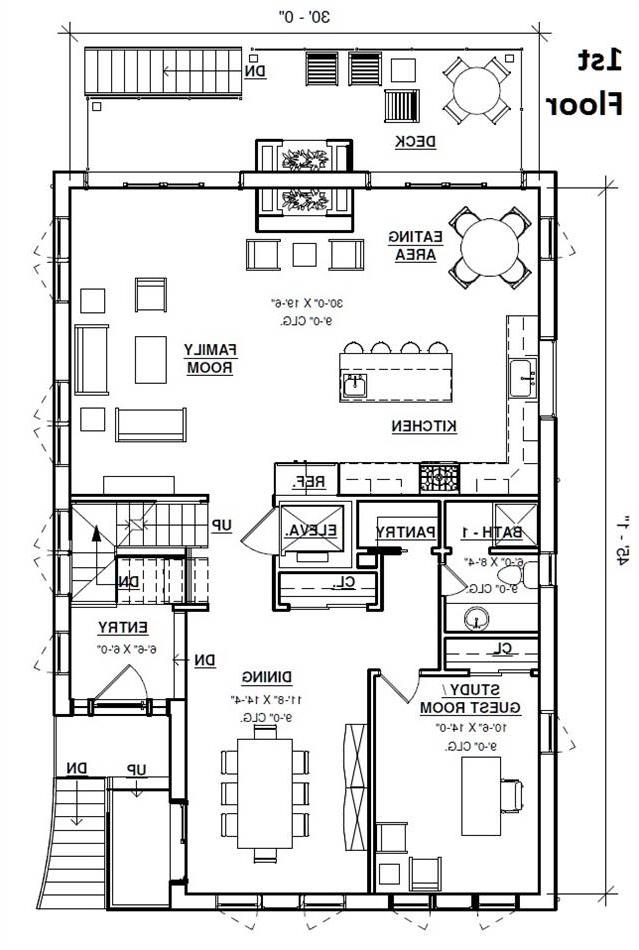 1st Floor Plan image of Featured House Plan: BHG - 4301