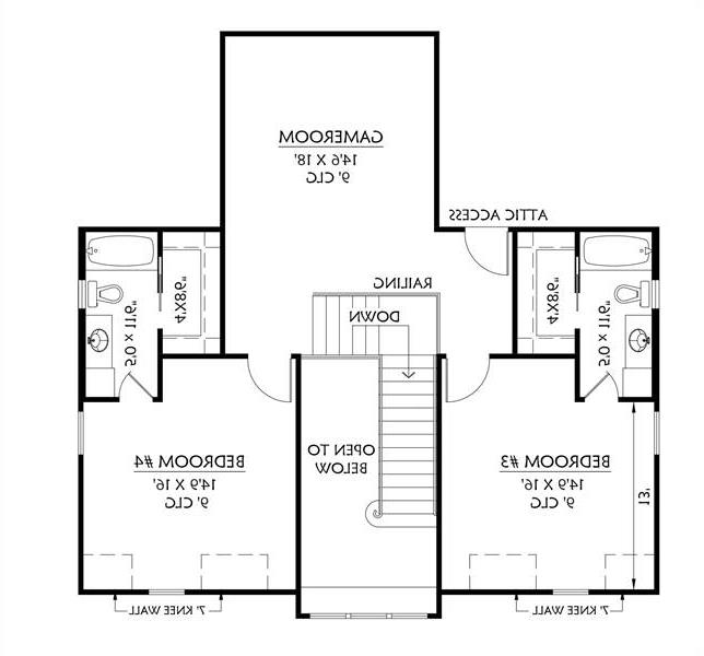 2nd Floor image of Featured House Plan: BHG - 8644