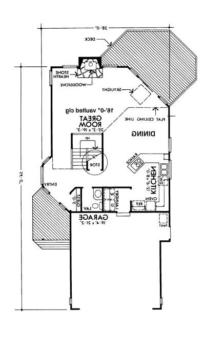 Main Floor Plan image of Featured House Plan: BHG - 6131