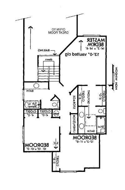 Upper Floor Plan image of Featured House Plan: BHG - 6131
