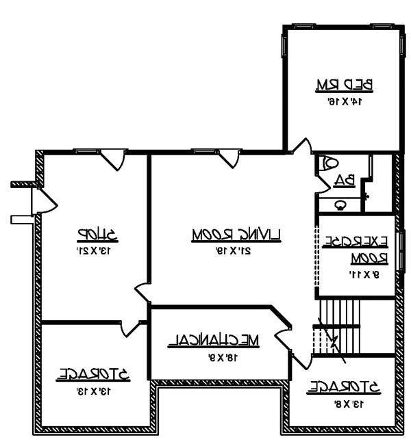Basement image of Featured House Plan: BHG - 6224
