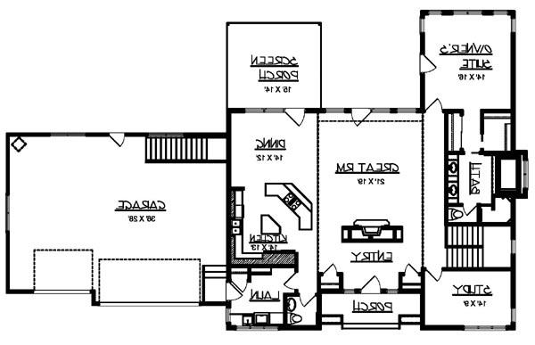 Main Floor Plan image of Featured House Plan: BHG - 6224