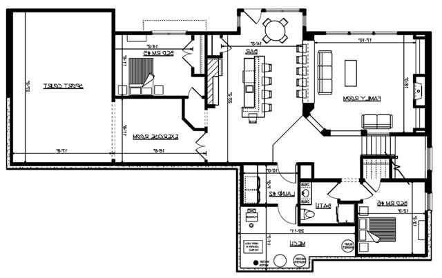 Lower Floor Plan image of Featured House Plan: BHG - 4953