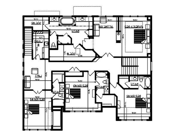 Upper Floor Plan image of Featured House Plan: BHG - 4953