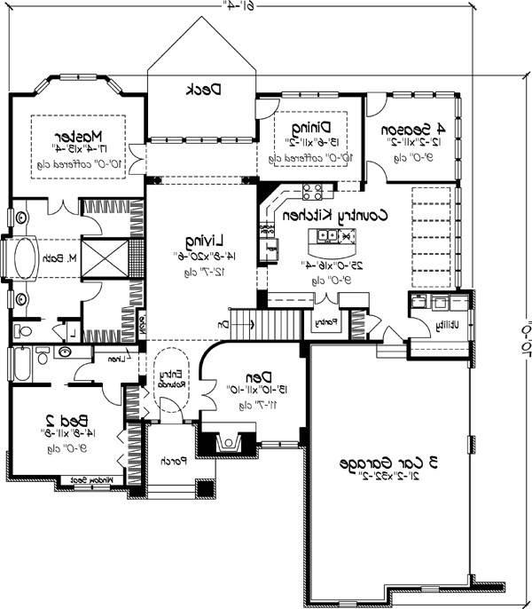 Main Floor Plan image of Featured House Plan: BHG - 6226