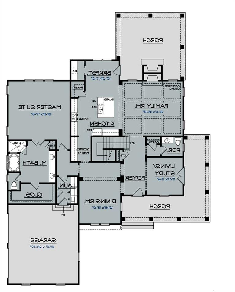 1st Floor Plan image of Featured House Plan: BHG - 2032