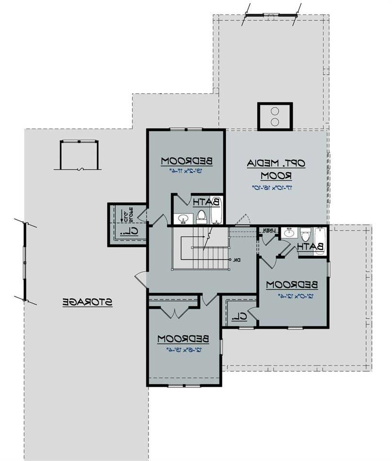 2nd Floor Plan image of Featured House Plan: BHG - 2032