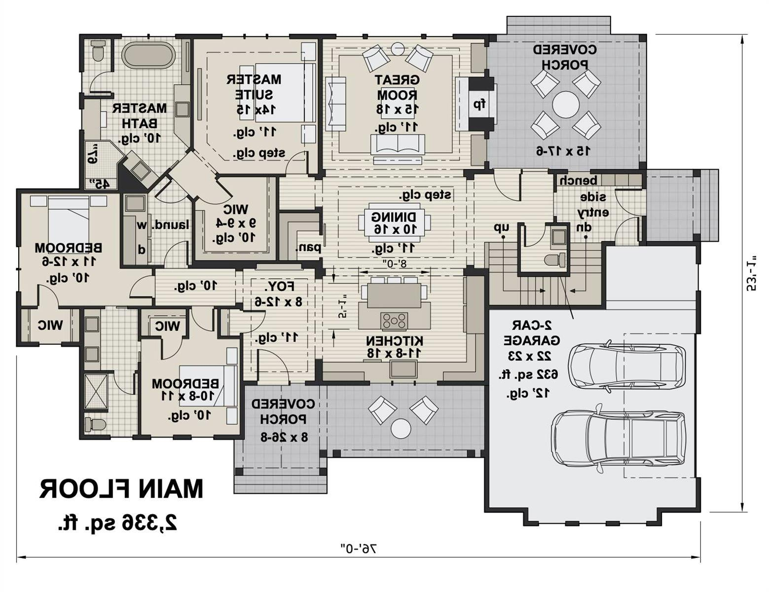 1st Floor image of Featured House Plan: BHG - 3429