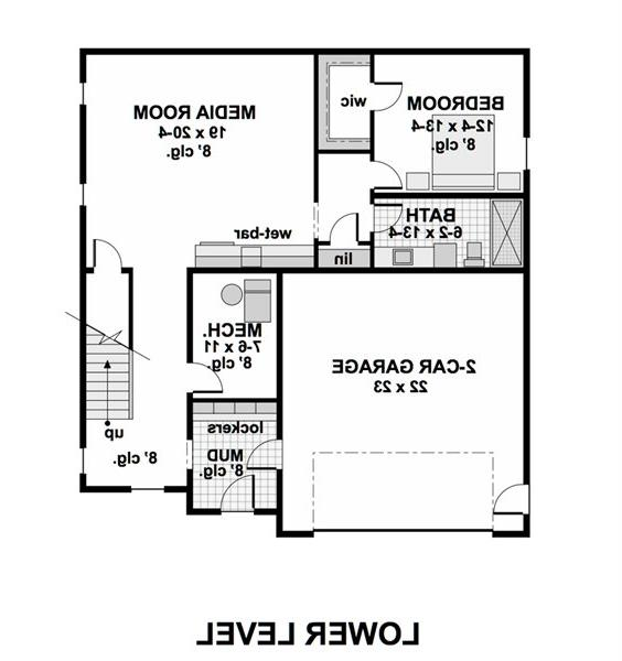 Lower Level Floor Plan image of Featured House Plan: BHG - 1974