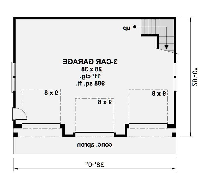 1st Floor Plan image of Featured House Plan: BHG - 1994
