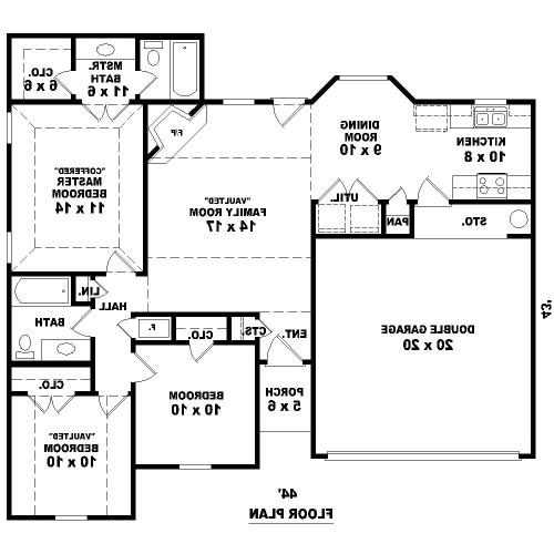 1st Level image of Featured House Plan: BHG - 8107