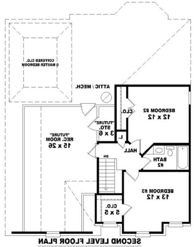 2nd Level image of Featured House Plan: BHG - 8110