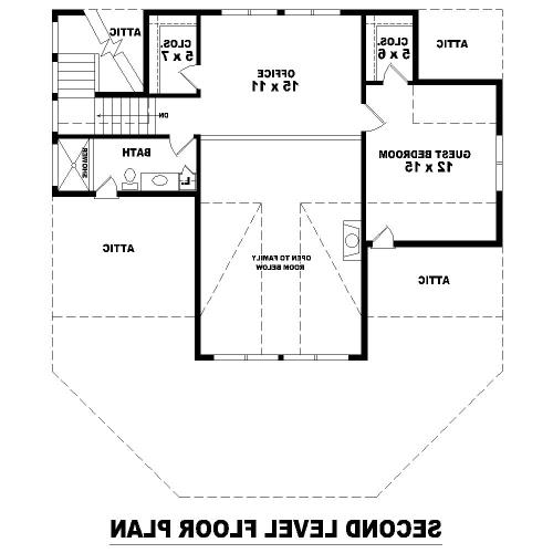 2nd Level image of Featured House Plan: BHG - 8115