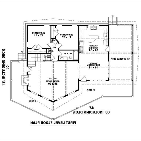 1st Level image of Featured House Plan: BHG - 1270