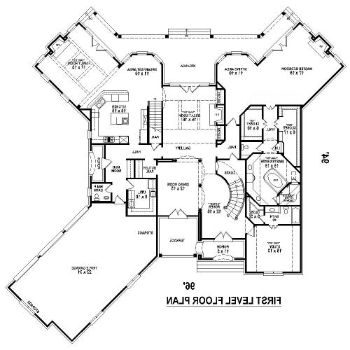 1st Level image of Featured House Plan: BHG - 8509