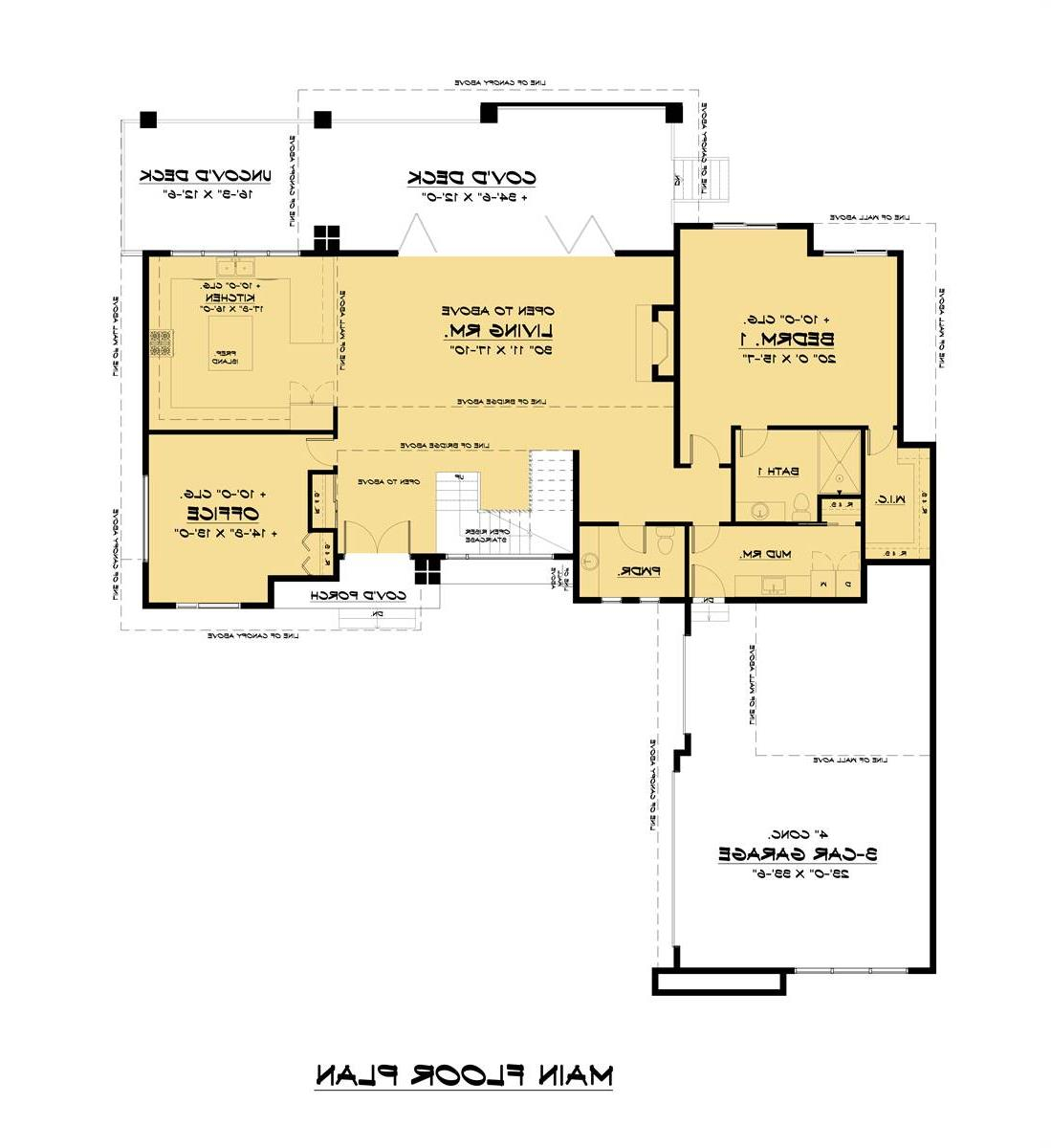 Main Floor Plan image of Featured House Plan: BHG - 7539