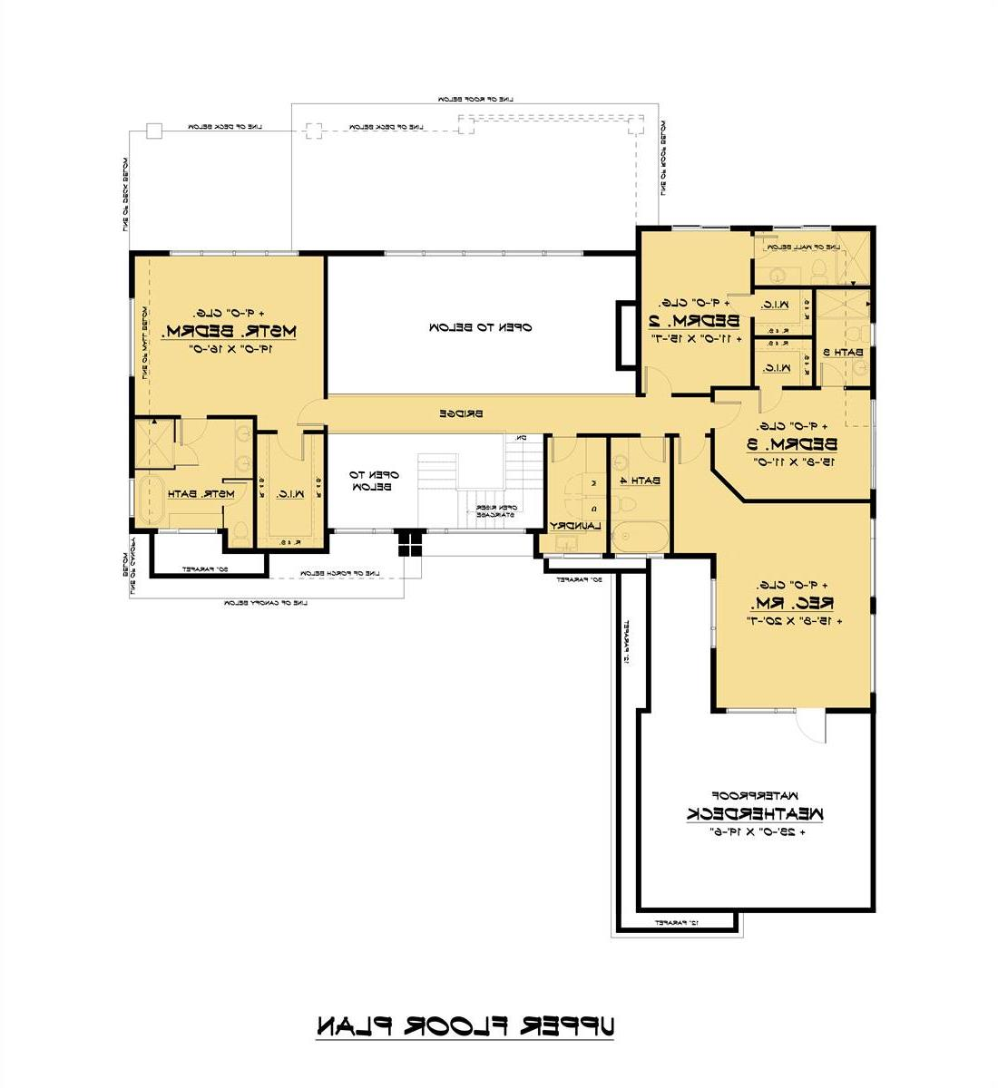 Upper Floor Plan image of Featured House Plan: BHG - 7539