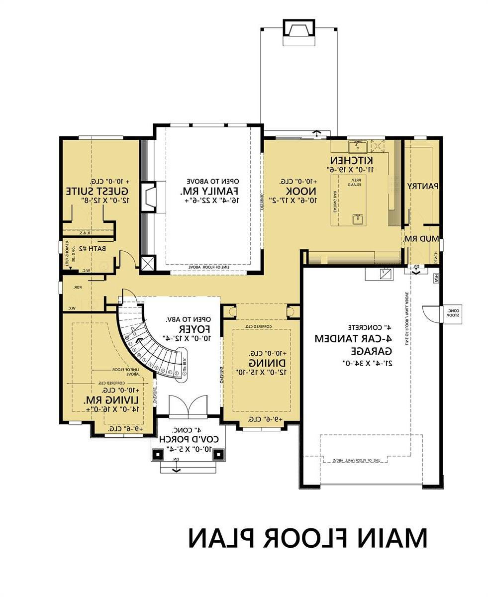 1st Floor Plan image of Featured House Plan: BHG - 7886