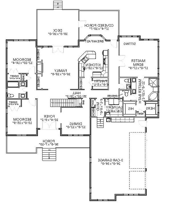 1st Floor image of Featured House Plan: BHG - 6822