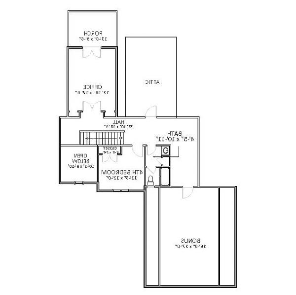 2nd Floor image of Featured House Plan: BHG - 6822