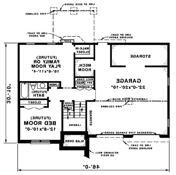 lower level image of Featured House Plan: BHG - 1571