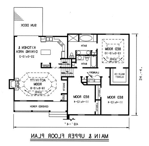 upper level plan image of Featured House Plan: BHG - 7737