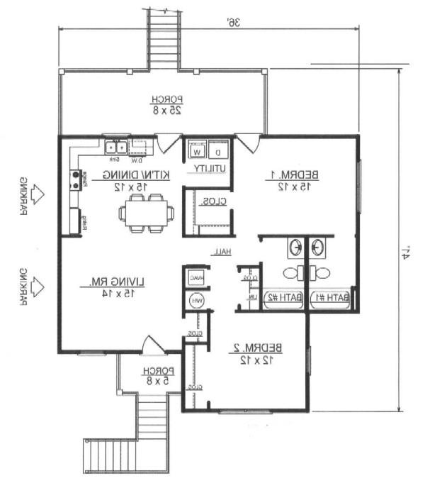 First Floor Plan image of Featured House Plan: BHG - 7801