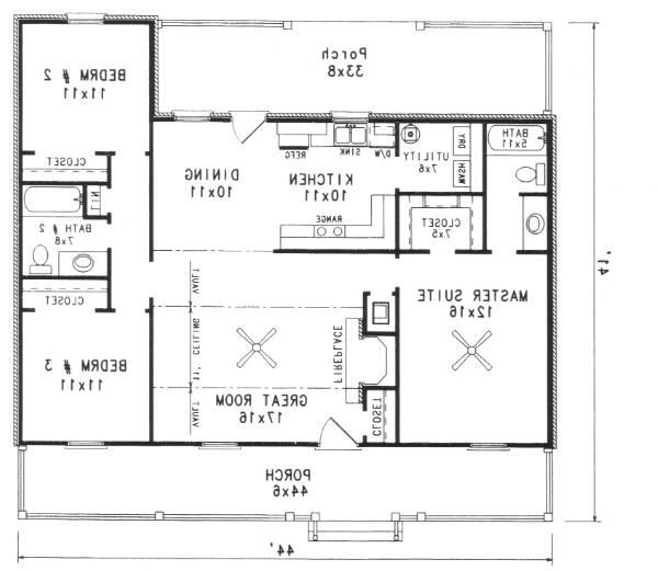 First Floor Plan image of Featured House Plan: BHG - 5917