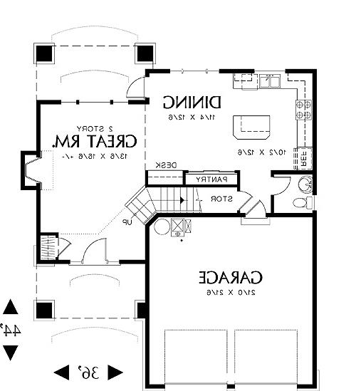 First Floor Plan image of Featured House Plan: BHG - 4327