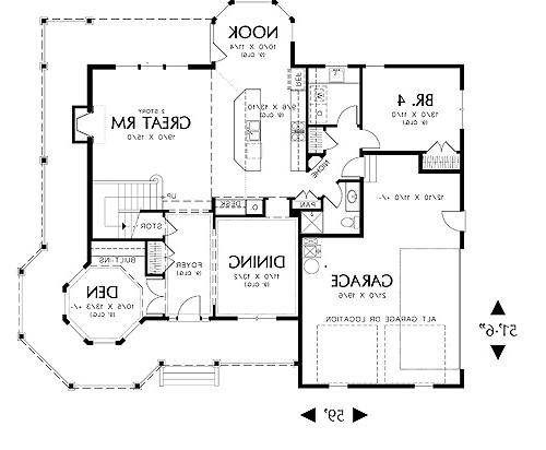 First Floor Plan image of Featured House Plan: BHG - 4333