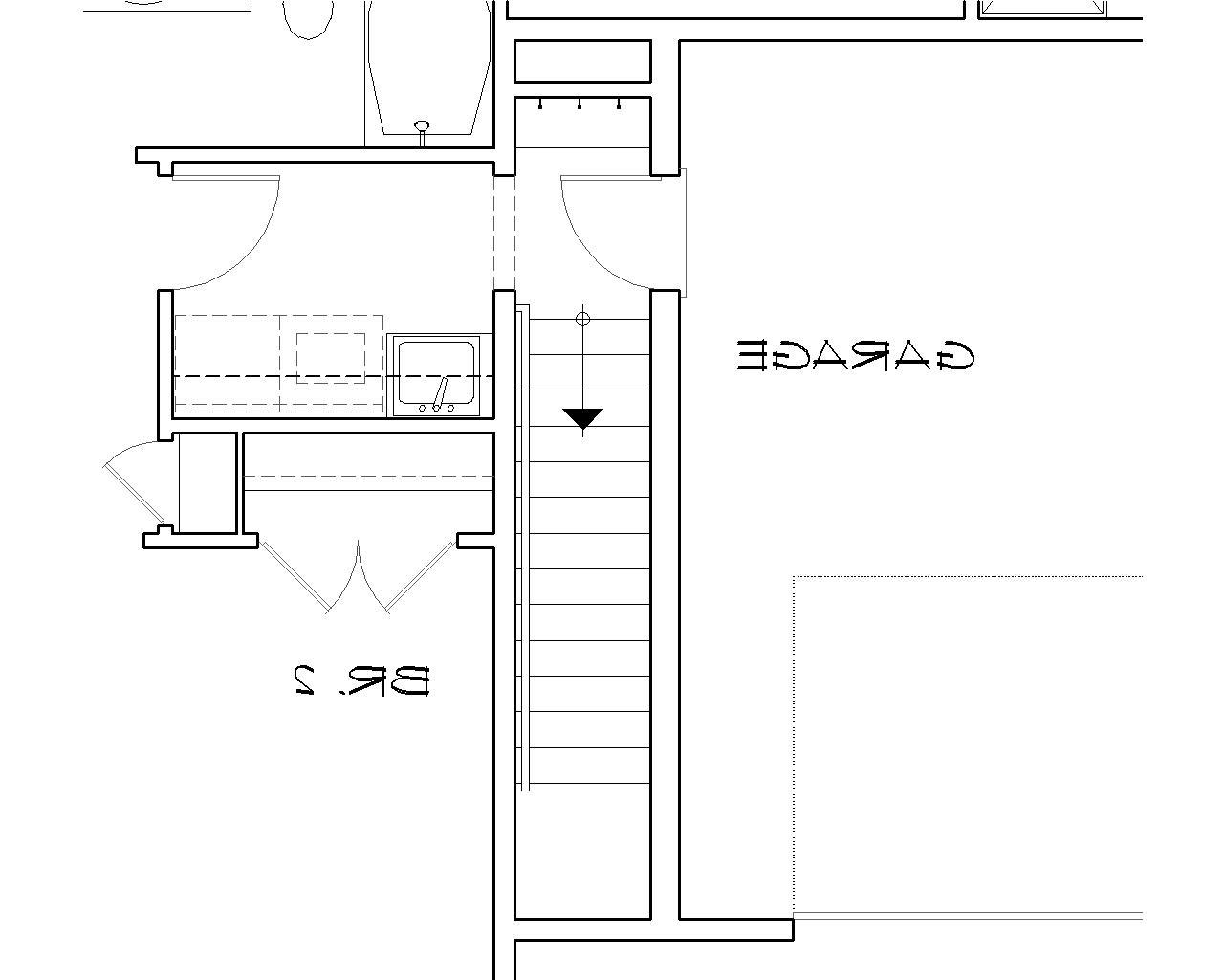 Basement Stair Location image of Featured House Plan: BHG - 4323